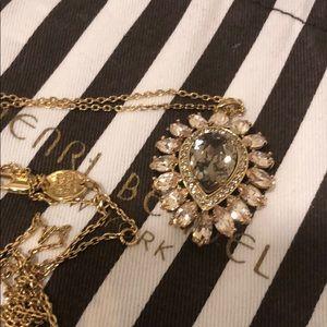 Henri Bendel Jeweled Pendant Necklace